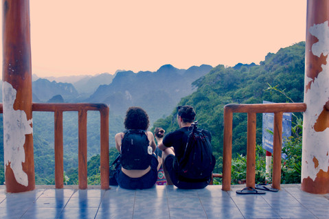 Ma and I. Taken in Cat Ba National Park, Vietnam  Photo credit: Jonathan Poole