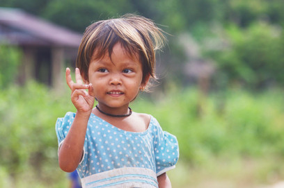 This girl ran out to meet us as we passed through her little village in Ream National Park, Cambodia. A local ranger said that a Buddhist monk had seen a tiger near here not long ago. Even though we didn't see any signs ourselves, it's nice to imagine they are still in this part of the country.
