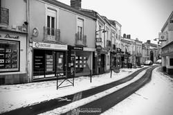 Vallet sous la neige (vers la rue des Forges)