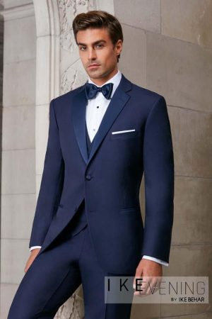 Ike Behar Sebastian #800 Blue Slim Fit