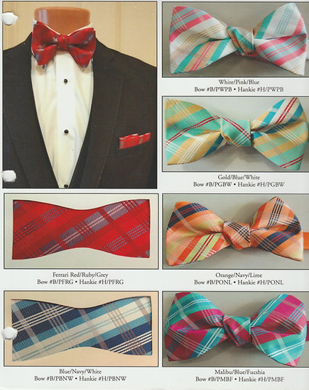 Plaid Bow Tie and Hankie