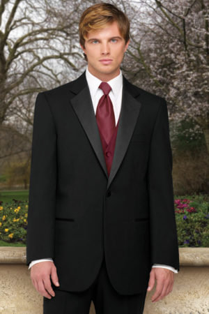 Classic One Button Notch Style #103 Black