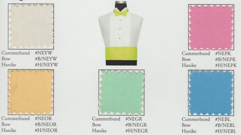 Neon Cummerbunds/Bows/Hankies