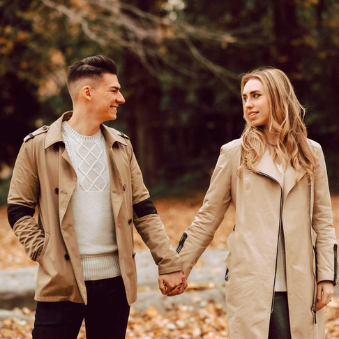 Fall Engagement in Central Park