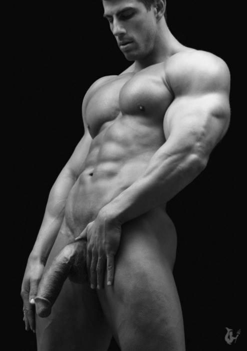 Голые мускулистые парни модели 8