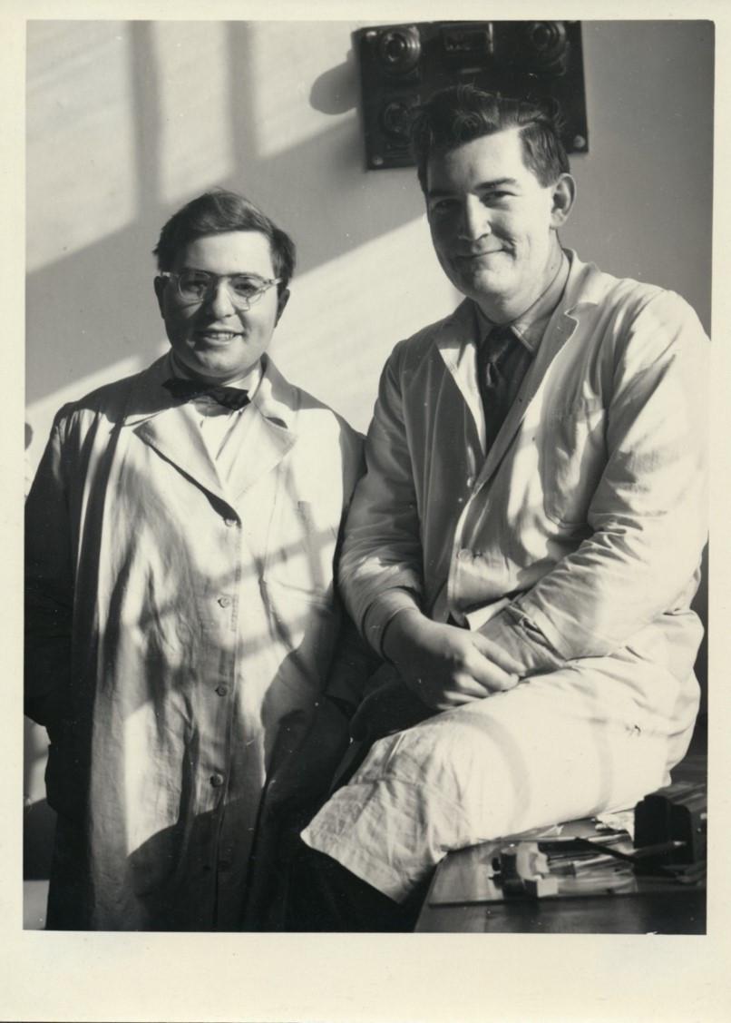 Two future big protozoologists: Jiří Vávra & Jiří Lom, 1952