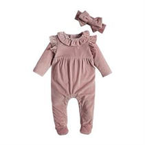 Velour Ribbed Outfit Set