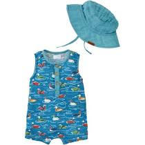 Duck Romper and Hat Set