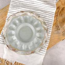 Etta B Pottery Egg Plate