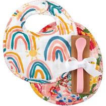 2 Bibs and Spoon Set