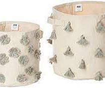 Pom and Tassel Basket Set