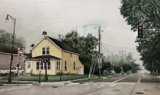 """""""Quiet City"""", Watercolor, 2021"""