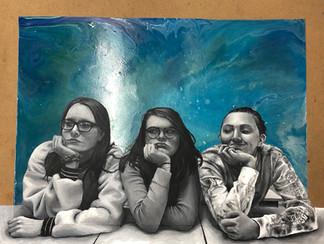 """Blues"" Acrylic Paint, 2019"