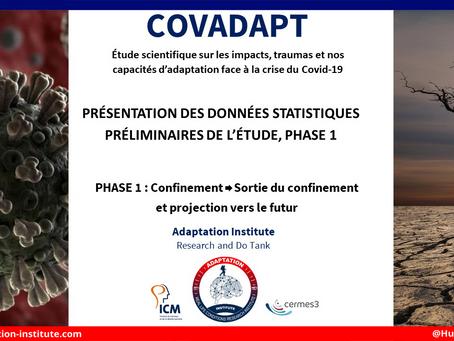 Présentation des données statistiques préliminaires de l'étude COVADAPT