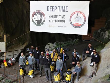 Sortie des équipiers de l'expédition scientifique DEEP TIME
