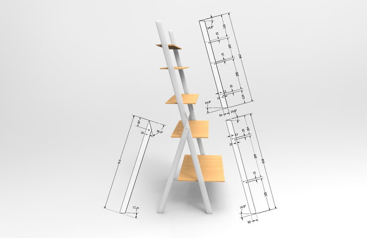 Exhibition Furniture Technical Drawing