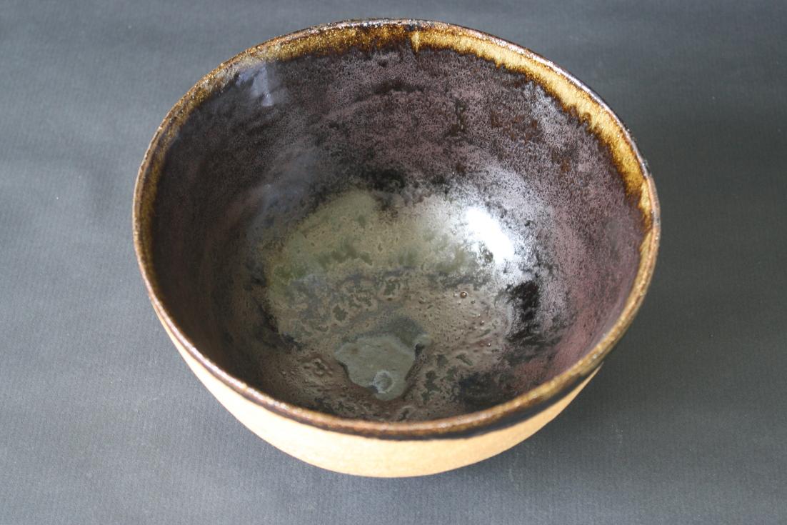 Saladier grès noir et sable