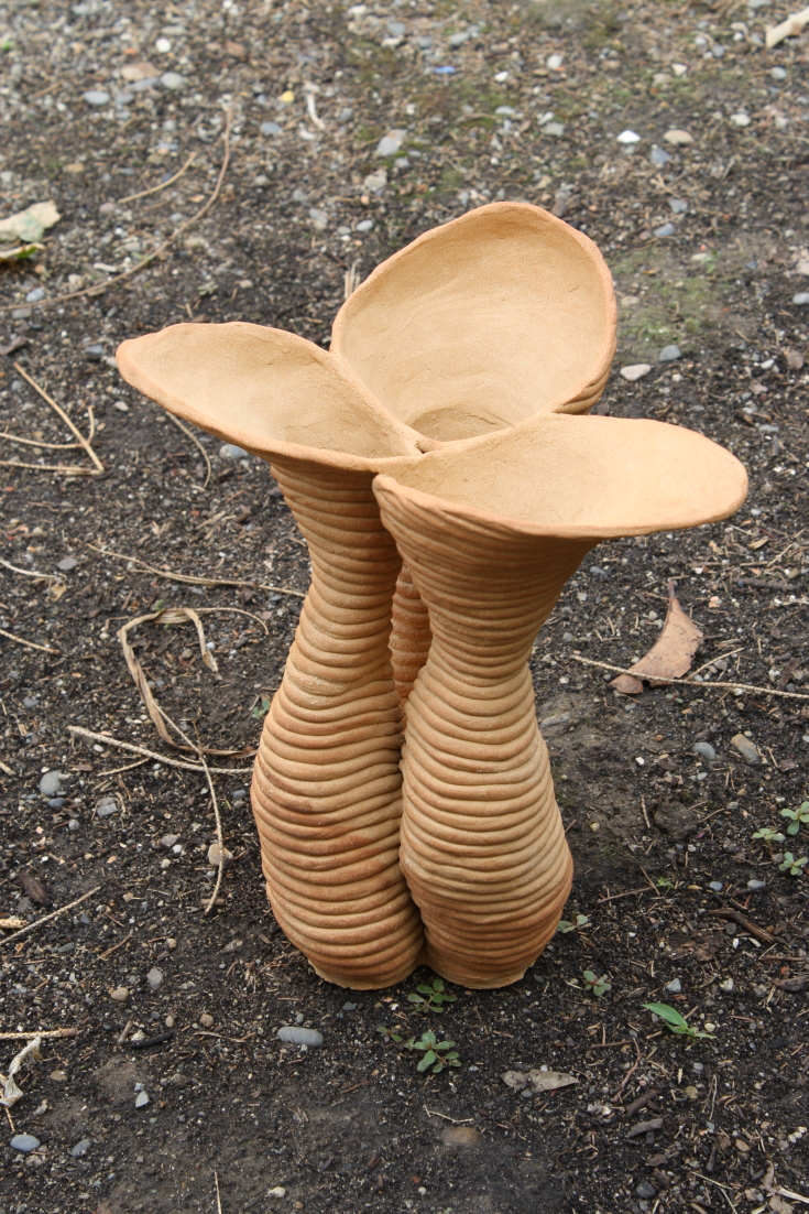 Vase 3 tubes en colombin
