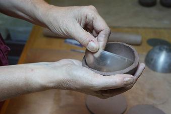 estampage de grès pour ébauche de contenant