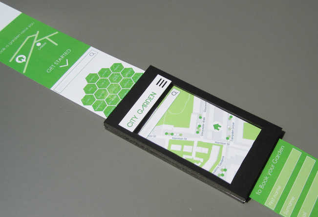 City Garden App Paper Prototype