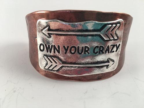 Own Your Crazy Adjustable Bracelet
