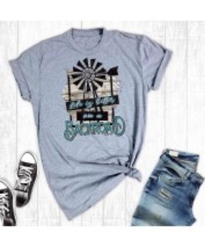 Life is Better on a Backroad, Unisex T-shirt, Windmill, Barn, Shabby Chic, Count