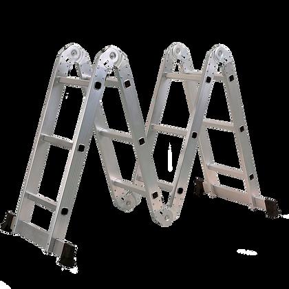 Escalera Multipropósito Plegable En Aluminio 12 Pasos