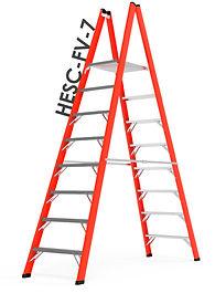 escaleras plataforma doble frp