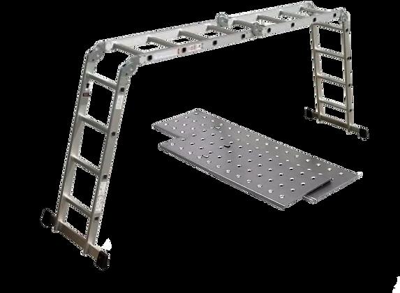 Escalera Multipropósito 16 Pasos + Plataformas
