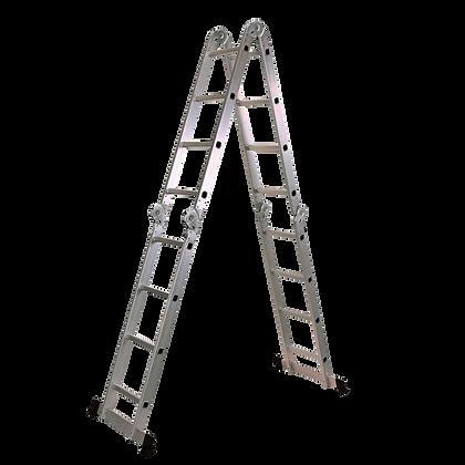 Escalera Multiproposito 16 Pasos En Aluminio 4x4