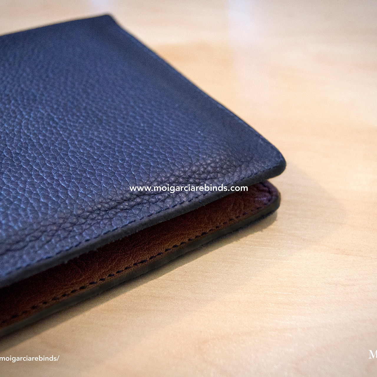 Navy blue cowhide notebook cover8