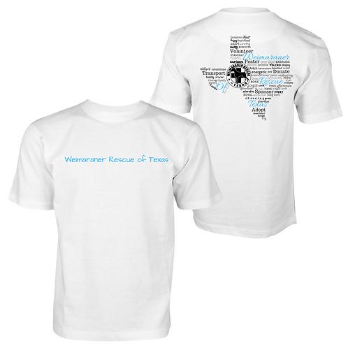Heart Of Texas T Shirt - Unisex White