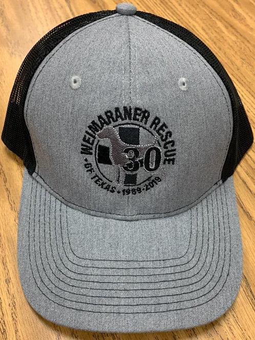 30th Anniversary Gray/Black Trucker Hat
