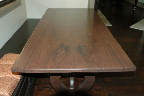 Book Match Walnut Slab Table
