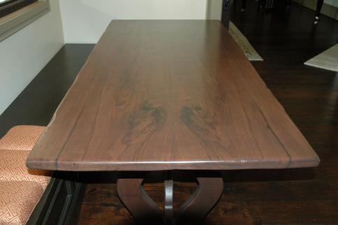 Book Match Walnut Slab Table
