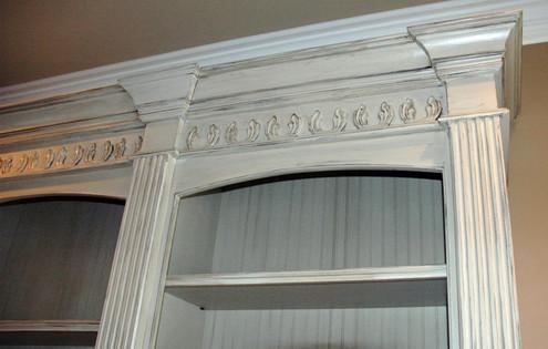 White Triple Bookcase