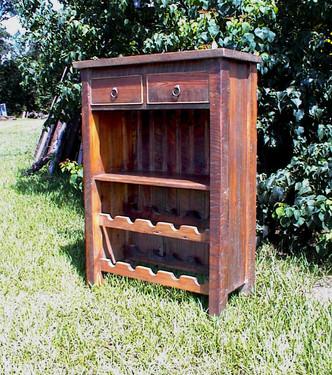 Heart Pine Wine Cabinet