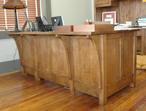 Oak Desk Front