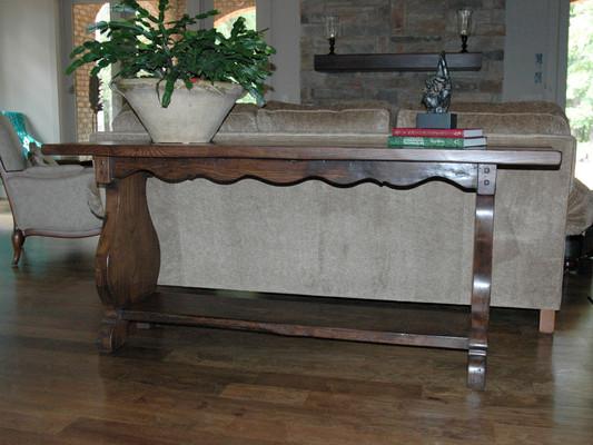French Oak Sofa Table