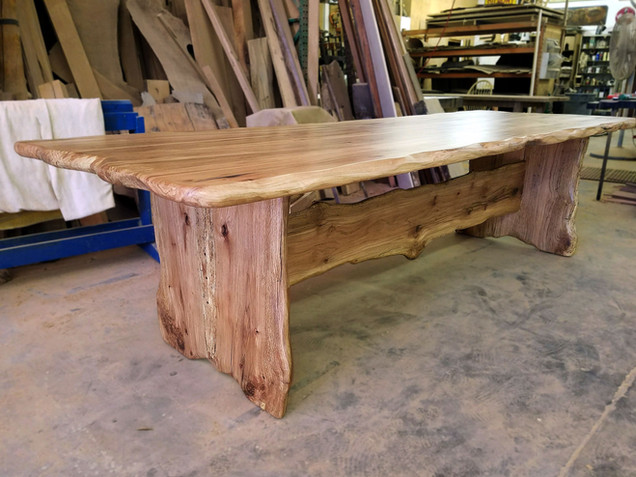 Spalted Oak Trestle Table