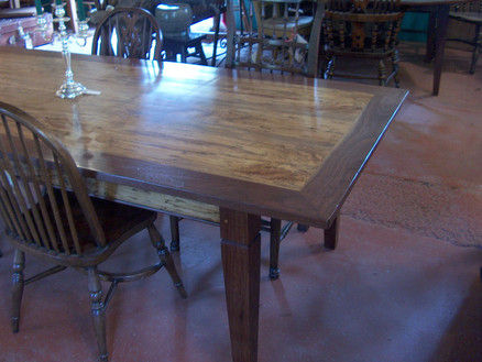 Spalted Maple and Walnut Dining Table