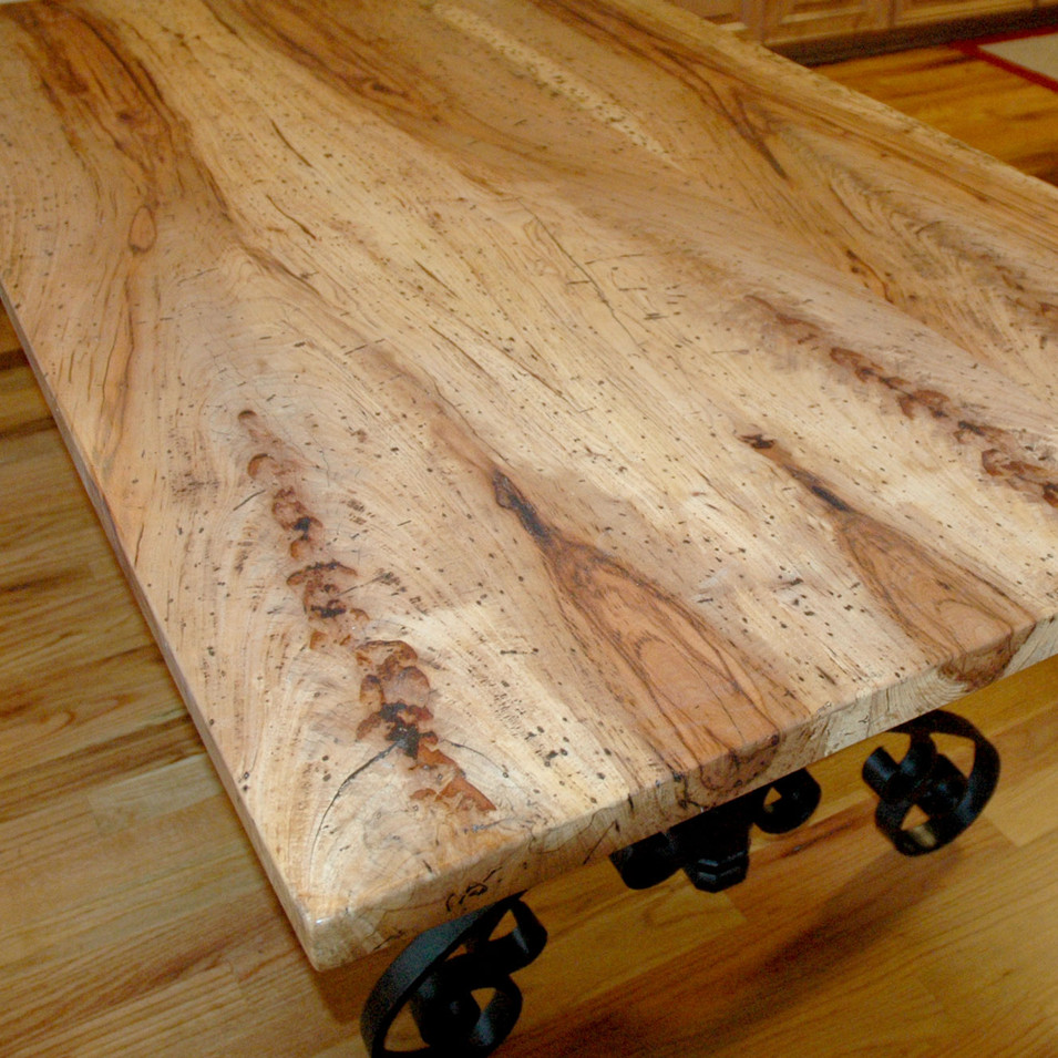 Spalted Worming Pecan Table
