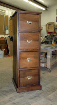 Heart Pine Filing Cabinet
