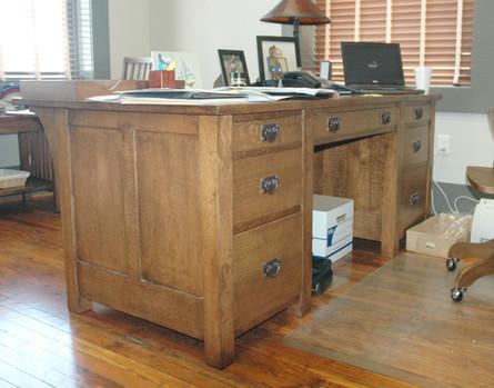Oak Desk Back