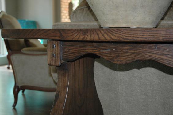French Oak Sofa Table Detail