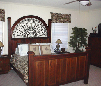 Heart Pine French Gate Bed