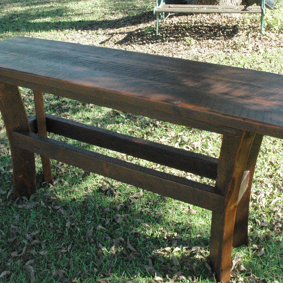 Heart Pine Sofa Table