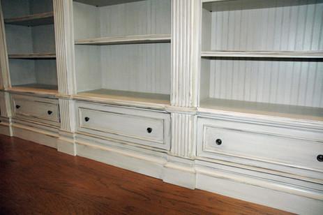 White Triple Bookcase Detail