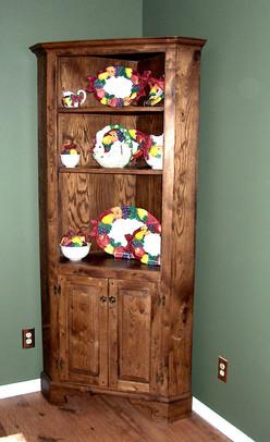 Oak Corner Cabinet