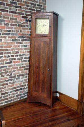 Heart Pine Grandfather Clock
